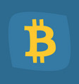 big b symbol of bitcoin of gold color vector image