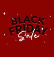 black friday sale banner layout background vector image