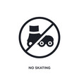 black no skating isolated icon simple element vector image vector image