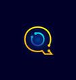 blue and orange letter q alphabet logo icon design vector image vector image