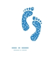 blue white lineart plants footprints silhouettes vector image vector image
