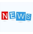 Coloful hanging news labels vector image
