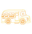 color line vehicle school bus education vector image vector image