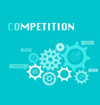 competition graphic for business concept vector image vector image