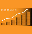 cost of living vector image