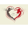couple in love with butterflies and hearts vector image