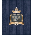 Cover royal menu vector image vector image