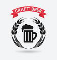 craft beer banner mug of beer and ears of barley vector image vector image