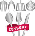 Cutlery design vector image vector image