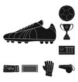 design of soccer and gear symbol set of vector image vector image