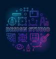 design studio colorful round vector image vector image