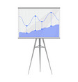 diagram on whiteboard poster vector image vector image