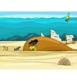 Educational game for children underwater life vector image