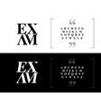 elegant alphabet letters set classic custom vector image