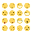 Emoji faces icons vector image vector image