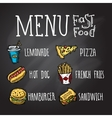 Fast Food Chalkboard vector image vector image