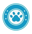 foot print animal isolated icon vector image