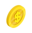 Gold coin with dollar sign icon vector image vector image
