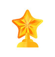 golden star trophy award on a vector image vector image