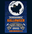 halloween party invitation with scary ghost vector image vector image