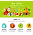 Happy Holidays Web Design vector image vector image