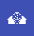 home sharing concept icon vector image vector image