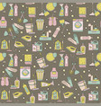 house cleaning seamless pattern vector image vector image