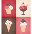 Ice cream cards vector image vector image