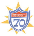 Interstate Retro sign vector image vector image