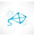 kite grunge icon vector image vector image