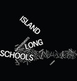 long island schools rate well on math test text vector image vector image