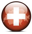 Map on flag button of Switzerland Swiss