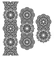 Mehndi Indian Henna tattoo long pattern design vector image vector image