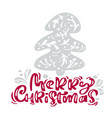 merry christmas calligraphy lettering text xmas vector image