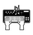 music keyboard isolated vector image
