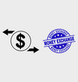 outline dollar exchange arrows icon and vector image vector image