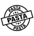 pasta round grunge black stamp vector image vector image