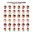people avatar set man woman user person vector image vector image