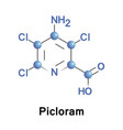 picloram systemic herbicide vector image vector image