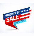 presidents day sale banner design template big vector image vector image