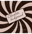 Retro vintage grunge hypnotic CHOCOLATE background vector image vector image