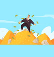 rich man cartoon composition vector image