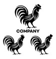 rooster in a hat logo vector image vector image