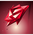 Ruby spatial technological shape polygonal vector image