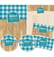 seafood restaurant with texture of wooden planks vector image vector image