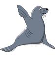 seal say hello vector image vector image