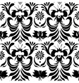 Seamless black pattern with floral background vector image