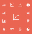 set of 13 editable logical icons includes symbols vector image vector image