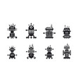 set of robot icons vector image