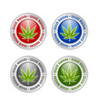 set silver or platinum legalize marijuana hemp vector image